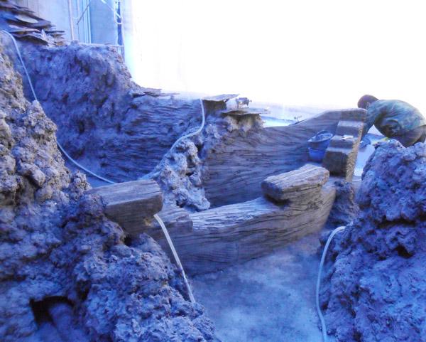 仿真珊瑚施工现场